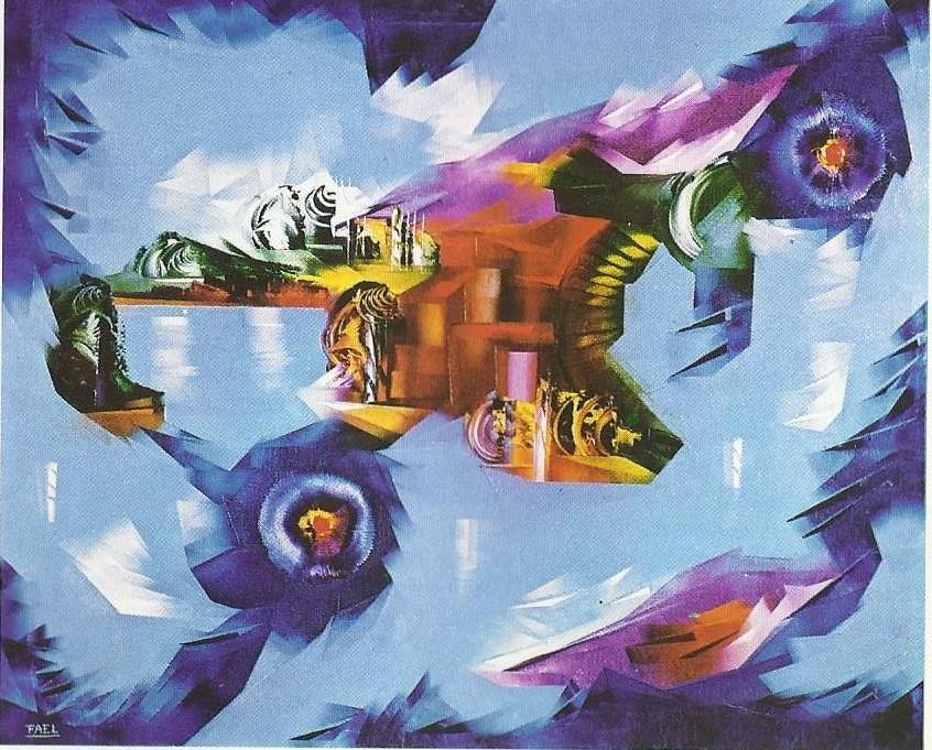 Opere anni 60 70 bruno fael artista contemporaneo for Fiori acquatici
