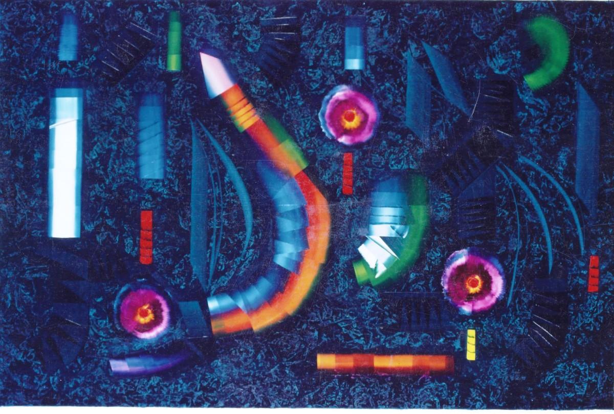 Opere anni 80 bruno fael artista contemporaneo for Fiori acquatici